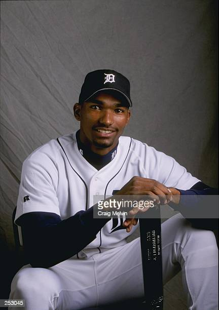 Juan Encarnacion of the Detroit Tigers poses for a portrait during Spring Training at the Merchant Stadium in Lakeland Florida Mandatory Credit Craig...
