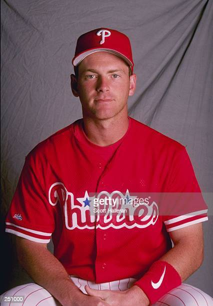 Mike Lieberthal of the Philadephia Phillies poses for a portrait during Spring Training at the Jack Russell Memorial Stadium in Clearwater Florida...
