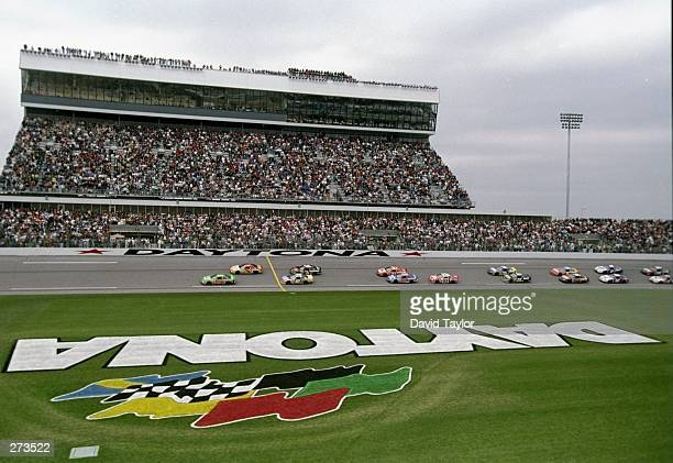 The start of the Nascar Daytona 500 gets underway at the Daytona International Speedway in Daytona Beach Florida Mandatory Credit David Taylor...