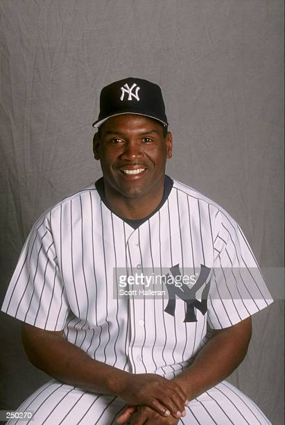 Tim Raines of the New York Yankees at Spring Training at Legends Field in Tampa Florida
