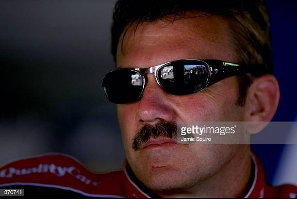 A portrait of Dale Jarrett taken before he races his car in the pole qualifying heat during the Daytona 500 Speedweek at the Daytona International...