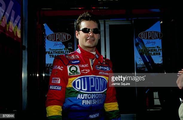 Portrait of Jeff Gordon taken as he poses before the pole qualifying heat during the Daytona 500 Speedweek at the Daytona International Speedway in...