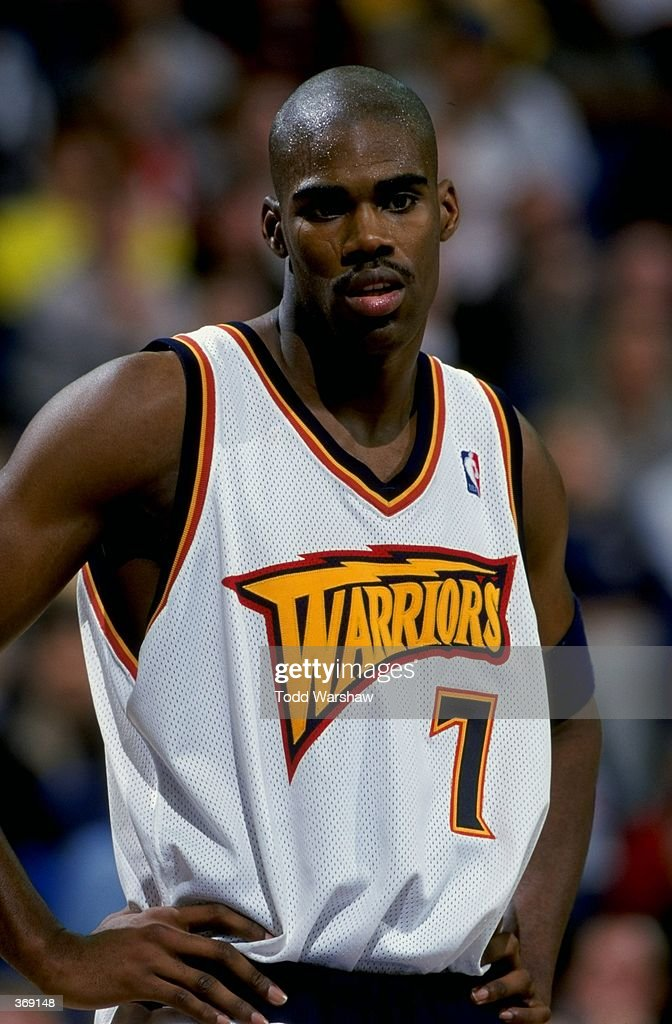 best loved 4ff70 e7b87 Antawn Jamison of the Golden State Warriors looks on during ...