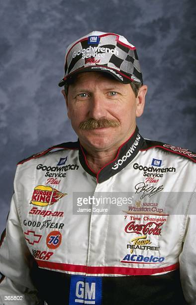 Dale Earnhardt poses for a studio portrait during the Daytona 500 Speedweek in Daytona Florida Mandatory Credit Jamie Squire /Allsport