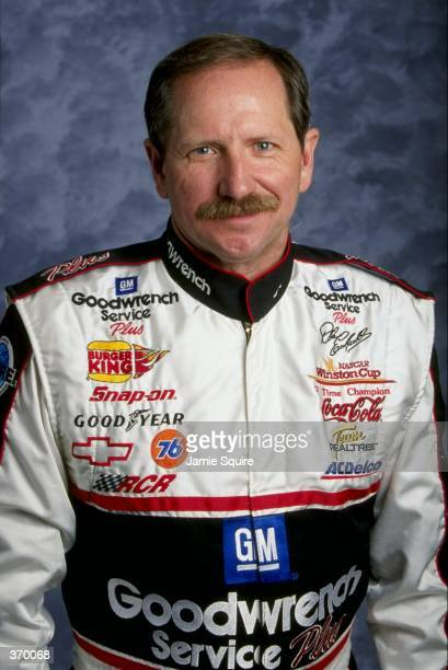 Driver Dale Earnhardt poses for a picture during the Daytona 500 Speedweek at the Daytona International Speedway in Daytona Florida