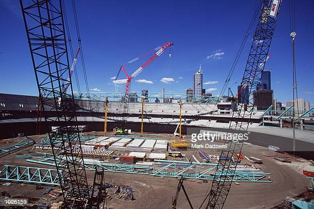 General view of Colonial Stadium under contruction at the Docklands in Melbourne Australia Mandatory Credit Mark Dadswell/ALLSPORT