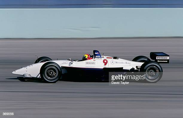Helio Castroneves of Brazil drives the Mercedes Lola T99/00 for Team Hogan Racing in action during the CART Testing at the Homestead Raceway in...
