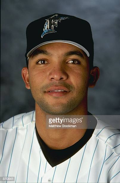 Infielder Alex Gonzalez of the Florida Marlins poses for a studio portrait on Photo Day during Spring Training at the Space Coast Stadium in...