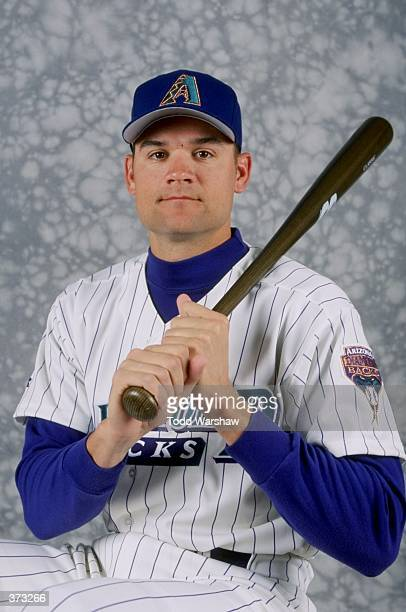 Infielder Andy Fox of the Arizona Diamondbacks poses for a studio portrait on Photo Day during Spring Training at the Tucson Electric Stadium in...