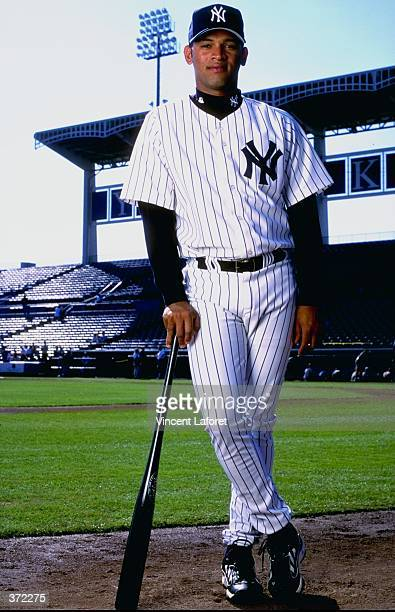 Infielder D''Angelo Jimenez of the New York Yankees poses for the camera on Photo Day during Spring Training at Legends Field in Tampa, Florida....