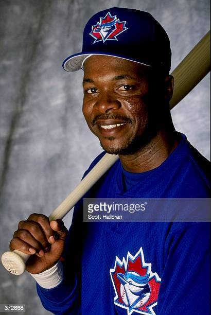 Infielder Tony Fernandez of the Toronto Blue Jays poses for a studio portrait on Photo Day during Spring Training at the Dunedin Stadium at Grant...