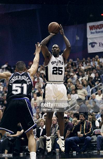 Jerome Kersey of the San Antonio Spurs jumps to shoot during the game against the Sacramento Kings at the Alamo Dome in San Antonio Texas The Spurs...