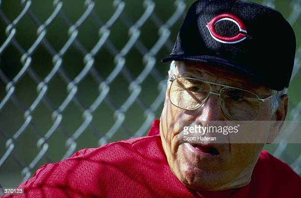 Manager Jack McKeon of the Cincinnati Reds poses for the camera on Photo Day during Spring Training at Ed Smith Stadium in Sarasota Florida Mandatory...