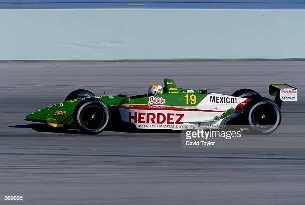 Michel Jourdain Jr of Mexico drives the Ford Lola T99/00 for Team Payton Coyne Racing in action during the CART Testing at the Homestead Raceway in...