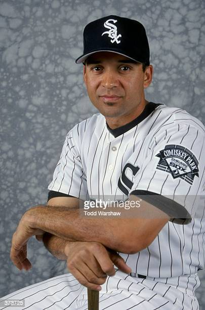 Outfielder Darrin Jackson of the Chicago White Sox poses for a studio portrait on Photo Day during Spring Training at theTucson Electric Park in...