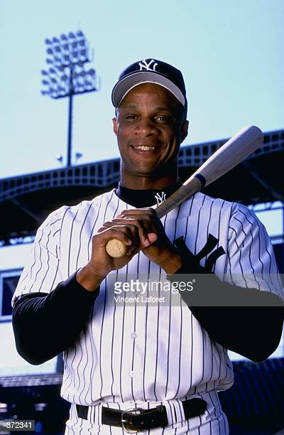 Outfielder Darryl Strawberry of the New York Yankees poses for the camera on Photo Day during Spring Training at Legends Field in Tampa, Florida....