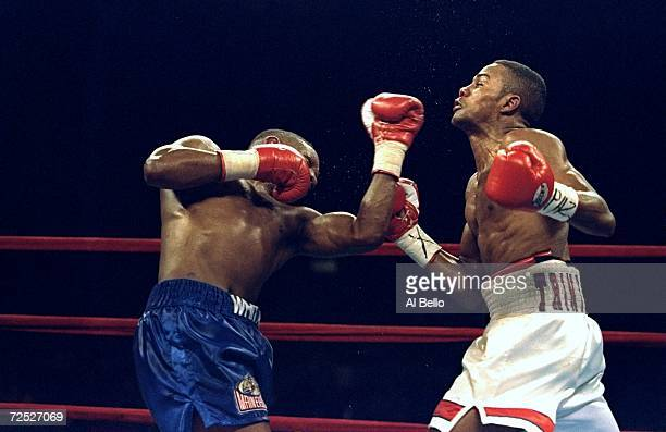Pernell Whitaker lands a right hook on chin of Felix Trinidad at Madison Square Garden in New York New York Trinidad won by a decision in the 12th...
