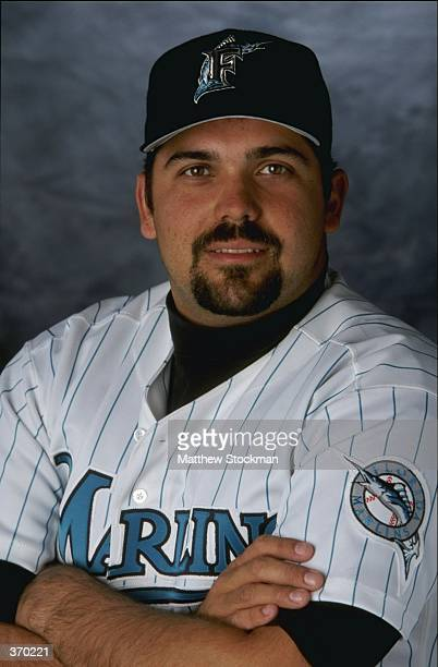 Pitcher Alex Fernandez of the Florida Marlins poses for a studio portrait on Photo Day during Spring Training at the Space Coast Stadium in Melbourne...