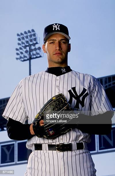 Pitcher Andy Pettitte of the New York Yankees poses for the camera on Photo Day during Spring Training at Legends Field in Tampa Florida Mandatory...