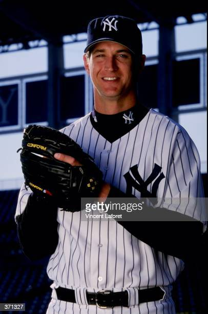Pitcher Dan Naulty of the New York Yankees poses for the camera on Photo Day during Spring Training at Legends Field in Tampa Florida Mandatory...