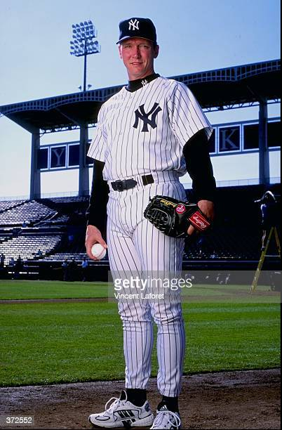 Pitcher David Cone of the New York Yankees poses for the camera on Photo Day during Spring Training at Legends Field in Tampa Florida Mandatory...