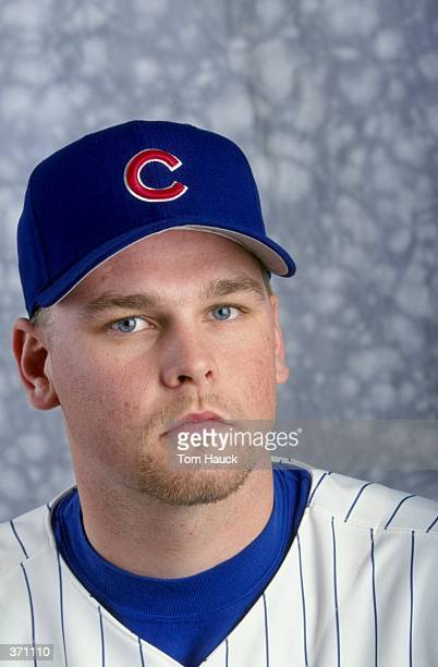 Pitcher Kerry Wood of the Chicago Cubs poses for a studio portrait on Photo Day during Spring Training at HoHoKam Park in Mesa Arizona Mandatory...