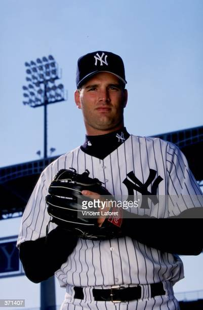 Pitcher Mike Buddie of the New York Yankees poses for the camera on Photo Day during Spring Training at Legends Field in Tampa Florida Mandatory...