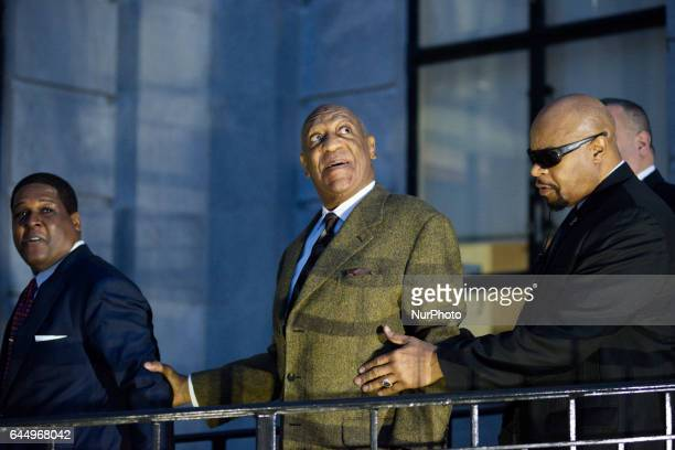 Actor and comedian Bill Cosby leaves after a February 2 2016 pretrail hearing at Montgomery Country Court House in Norristown PA USA In preparation...