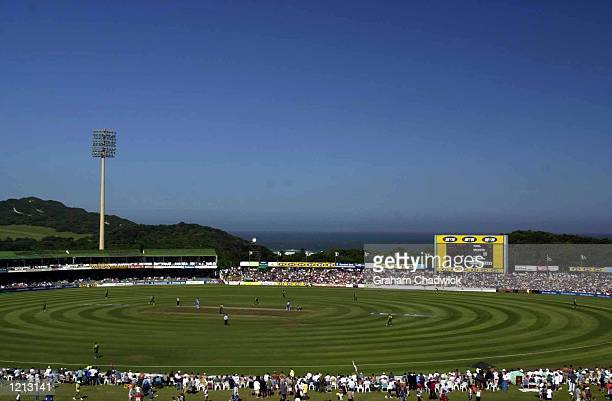 Action during the Fifth one day international against South Africa and England at the Buffalo Park cricket ground East London, South Africa....