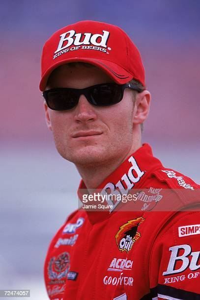 Dale Earnhardt Jr #8 looks on during the Daytona Speedweek part of the NASCAR Winston Cup Series at Daytona International Speedway in Daytona Beach...