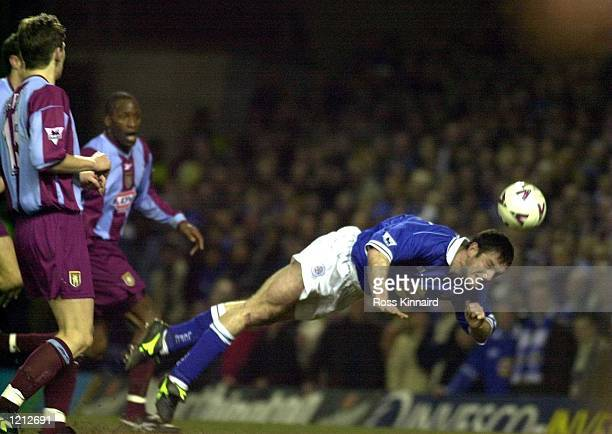 Gerry Taggart of Leicester in action during the Leicester City v Aston Villa Worthington Cup semifinal second leg at Filbert Street Leicester...