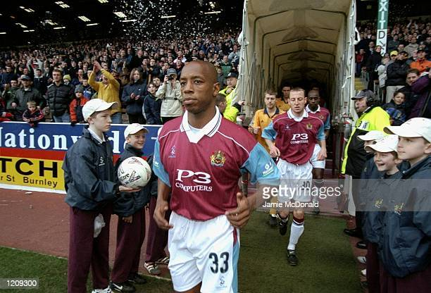 Ian Wright makes his debut for Burnley in the Nationwide League Division Two game against Wigan Athletic. The match was played at Turf Moor in...