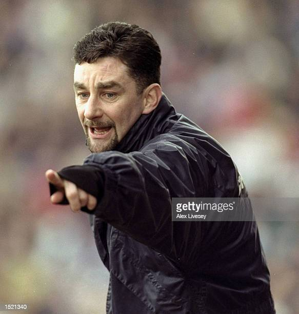 John Aldridge manager of Tranmere Rovers during the AXA Sponsored FA cup sixth round game between Tranmere Rovers and Newcastle United at Prenton...