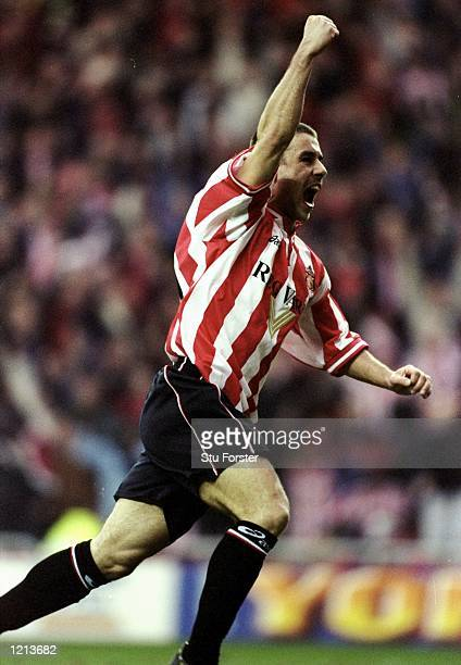 Kevin Phillips of Sunderland during the FA Carling Premiership match against Newcastle played at the Stadium of Light in Sunderland England The game...