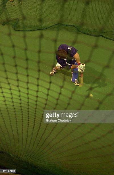 Mark Ealham of England in the indoor nets before England meet South Africa in the final on Saturday at The Wanderers cricket ground Johannesburg...