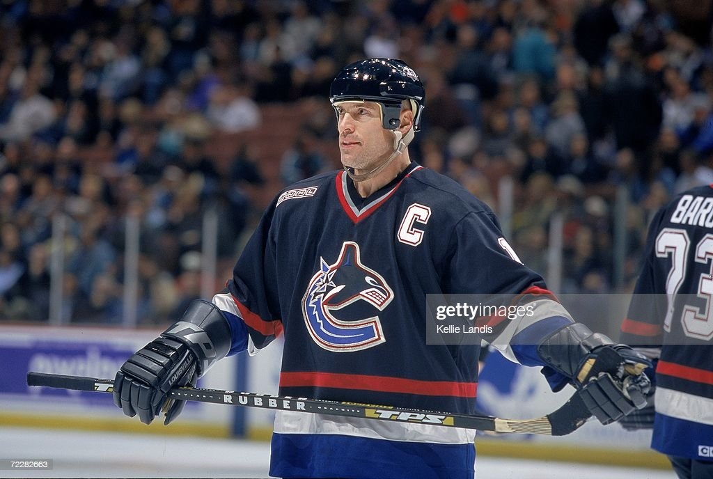 Mark Messier #11of the Vancouver Canucks skates on the ice during a game against the Anaheim Mighty Ducks at the Arrowhead Pond in Anaheim, California. The Canucks tied the Ducks 4-4 in overtime. Mandatory Credit: Kellie Landis /Allsport