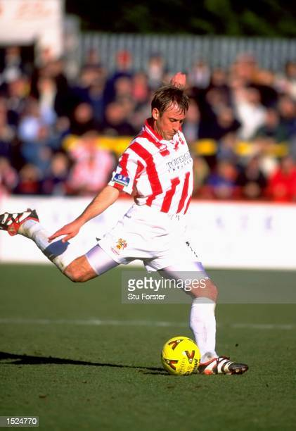 Mark Yates of Cheltenham Town during the Natiowide League Division Three game between Cheltenham Town and Swansea City at Whaddon Road in Cheltenham...