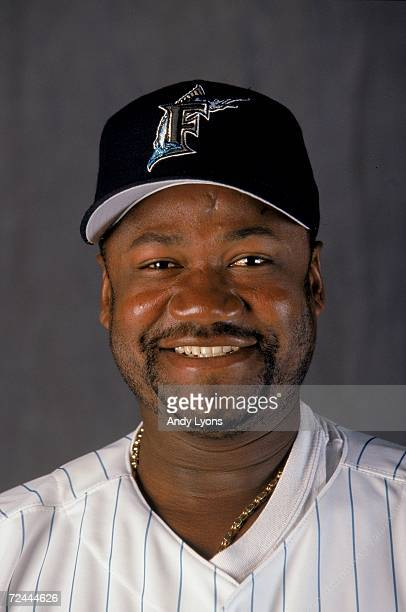 Pitcher Antonio Alfonseca of the Florida Marlins poses for a studio portrait during Spring Training Photo Day in Viera Florida Mandatory Credit Andy...