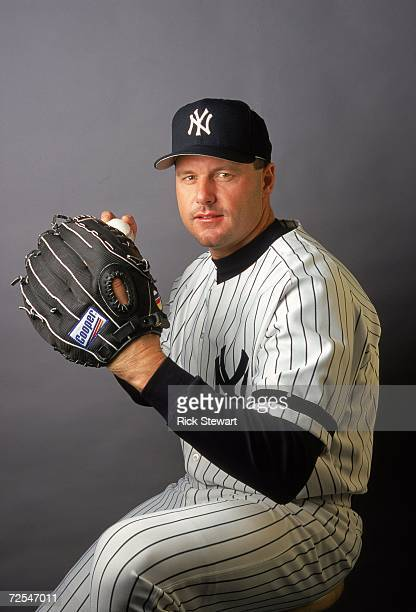 Pitcher Roger Clemens of the New York Yankees poses for a studio portrait during Spring Training Photo Day in Tampa Florida