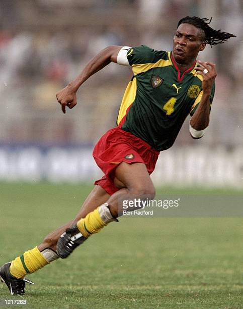 Rigobert Song of Cameroon in action during the African Nations Cup against Algeria played at Accra Ghana The match finished 21 Mandatory Credit Ben...