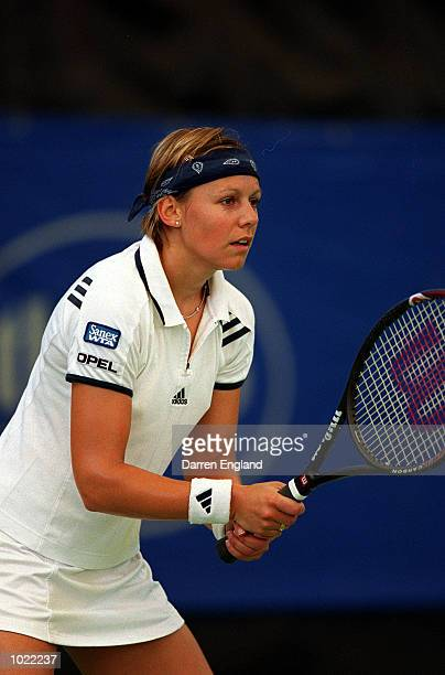 Sabine Applemans of Belgium in action during the Thalgo Australian Womens Hardcourt Championship on the WTA Sanex tour held at Royal Pines Resort...