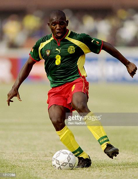 Sorelle Njitap Geremi of Cameroon in action during the African Nations Cup Final against Nigeria played at the National Stadium in Lagos Nigeria The...