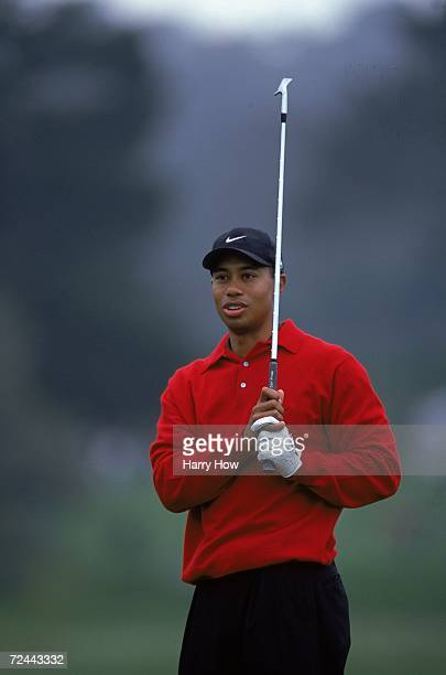 Tiger Woods follows his swing during the ATT Pebble Beach Pro AM at Spyglass Golf Course in Pebble Beach California Mandatory Credit Harry How...