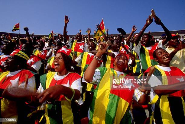 Togo Fans during the African Nations Cup in Ghana and Nigeria. \ Mandatory Credit: Ben Radford /Allsport