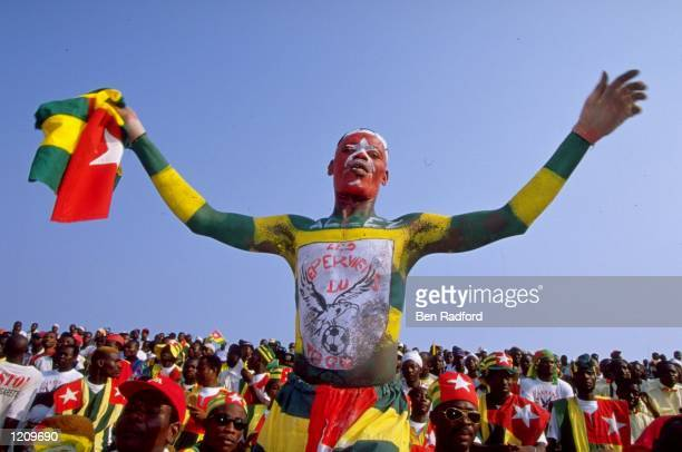 Togo Fans during the African Nations Cup in Ghana and Nigeria Mandatory Credit Ben Radford /Allsport