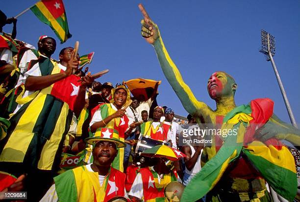 Togo Fans during the African Nations Cup in Nigeria. \ Mandatory Credit: Ben Radford /Allsport