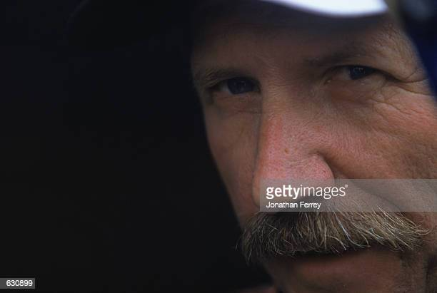 A close up of Dale Earnhardt looking out of the Chevy Monte Carlo for Richard Childress Racing during the Daytona 500 Speedweeks part of the NASCAR...