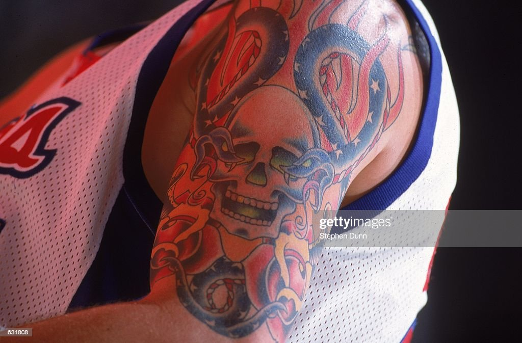 A Close Up View Of The Tattoos Of Cherokee Parks Of The Los Angeles