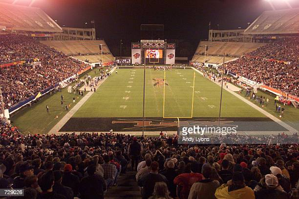 A general view of game action during the Orlando Rage XFL opening night against the Chicago Enforcers at the Citrus Bowl in Orlando Florida DIGITAL...