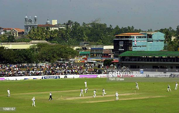 A general view of the action from the fort during the 2nd day of the 1st Test between Sri Lanka and England at the Galle International Cricket...